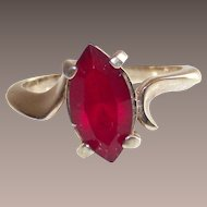 "Vintage Joseph Esposito Marquise ""Ruby"" Ladies Ring"