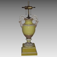 Meissen Lamp with Snake Handles Early 20th C.