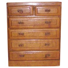 Vintage Doll Dresser with Dried Yucca Cactus Handles on Drawers Circa 1940s