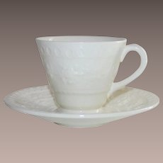 Vintage Wedgwood Wellesley Four Piece Demi Tasse Cups and Saucers
