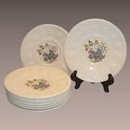 Wedgwood Wellesley Montreal Eight Dessert Plates