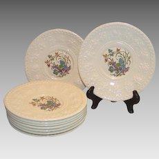 Wedgwood Wellesley Montreal Eight Dessert Plates