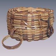 Vintage Shaker Needle Basket with Finger Loop