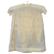 Vintage Baby Sunday Best Dress 1920s White Satin
