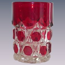 EAPG Tumbler Ruby Stained Block and Star