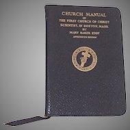 Church Manual Eighty Ninth Edition Mary Baker Eddy Church of Christ Scientist Boston MA