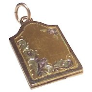 Vintage Mid Century Locket Book Style 3 Color Gold  Small