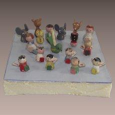 Vintage Erzgebirge Birthday Candle Holders 18 Pieces