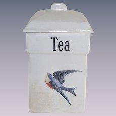Vintage Blue Bird Tea Canister 1920's