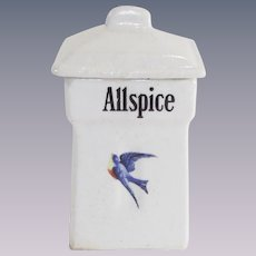 Vintage Blue Bird Allspice Canister 1920's