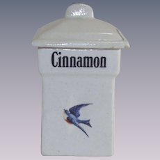 Vintage Blue Bird Cinnamon Canister 1920's