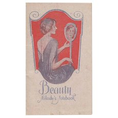 Vintage Beauty Notebook 1927 and 1928 by Milady's