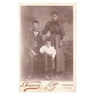Vintage Indian Territories White Man with Indian Wife and Child Cabinet Card