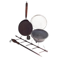 Vintage Six Piece Early Kitchen Tools Collection