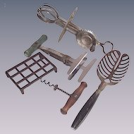 Five Piece Vintage Kitchen Tool Collection