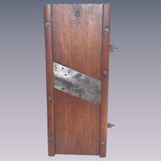 Vintage circa 1900 Large Primitive Treenware Walnut Kraut Cutter