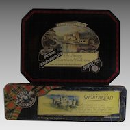 Vintage Scottish Biscuit Tins  Inveraray Castle and Eileen Donan