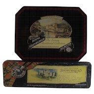 Vintage Scottish Biscuit Tins  Inveraray Castle and Eileen Donan