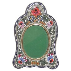 Vintage Micro Mosaic Picture Frame Small Oval with Arched Top - Red Tag Sale Item
