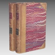 Vintage  William Wordsworth Two Volumes: The Poetic Works  Published in 1871