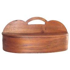 Antique Sewing Caddy Hand Made Oak Splint  c. 1855-60