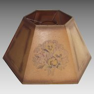 Antique Oil Lamp Shade Parchment Circa 1900