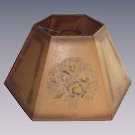 Antique Oil Lamp Shade Parchment Circa 1900