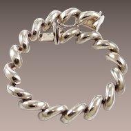 Vintage Italian Sterling San Marco Bracelet Seven Inch