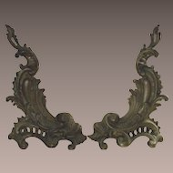 Victorian Rococo Style Summer Andirons