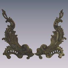 Victorian Rococo Style Summer Andirons