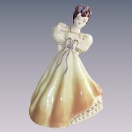 California Pottery Modglins of Los Angles Hand Painted Summer Lady Figurine