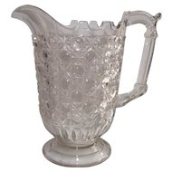 EAPG Early American Pattern Glass Currier & Ives Water Pitcher circa 1880
