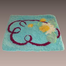 Hooked Rug Water Lilies Table Mat Size
