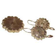 Victorian Earrings and Matching Brooch Set