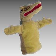 "Vintage Steiff ""Gaty the Alligator"" Hand Puppet circa Mid 1960's"
