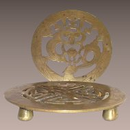 Vintage Pair Chinese Brass Trivets
