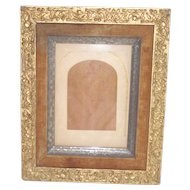 Victorian Frame With Velvet Liner Silvered Inner Frame Lovely Gesso Work