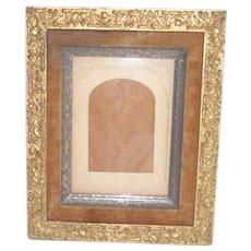 Victorian Frame With Velvet Liner Silvered Inner Frame Lovely Gesso Work