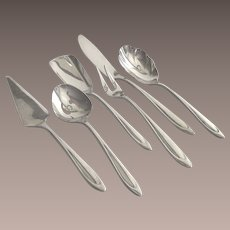 Vintage Meriden First Lady Silver Plate Hostess 6 Piece Set  1960