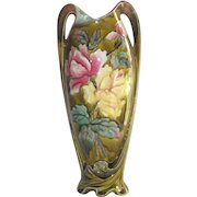 Victorian French Majolica Vase Art Nouveau  Stunning and Tall