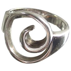 Sterling Silver Ring  Artist - Hand Made  Swirl Design