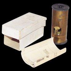 Antique Microscope 1800s Brass Gem Specimen Dichroscope Pocket Size - Red Tag Sale Item