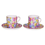 Vintage English Chintz Demi Tasse Cup and Saucer by: Collingwood