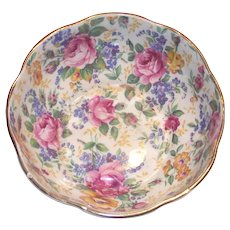 Vintage James Kent Chintz Rosalynde Open Sugar