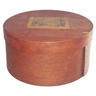 """Vintage Bentwood Pantry Box Early 19th Century 8 3/4"""""""