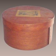 Vintage Bentwood Pantry Box Early 19th Century 8 3/4""