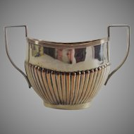 English Sheffield Sugar Bowl Double Handled Circa Early 1800s