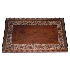 Empire Era Butlers Tray Indian Carved Mahogany