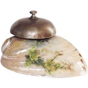 Victorian Mother of Pearl Shell Hotel Front Desk Bell
