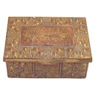 German  Arts and Crafts Pressed Brass Dresser Box